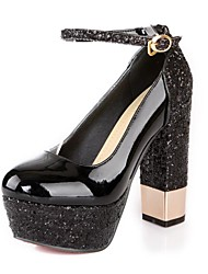 Women's Shoes Round Toe Platform Chunky Heel Sparkling Glitter Pumps Shoes More Colors available