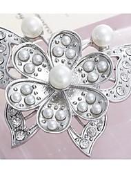 moda popular borboleta indivíduo forma de pérola broches liga de prata de strass mulheres