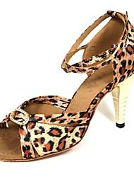Zapatos de baile ( Leopardo ) - Danza latina - No Personalizable - Tacón de estilete
