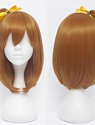 amo kousaka honoka laranja marrom cosplay peruca ao vivo!