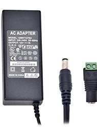 xinyuanyang® 84w fuente de alimentación 3round-pin ac 5.5 x 2.1mm adaptador de 12v 7a dc energía para la tira de luz led - negro (100 ~ 240v)