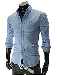 inclinado camisa do bolso moda masculina ITT