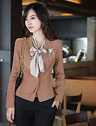 Fashion Fitted Long Sleeve Blazer