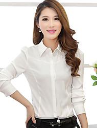 dini elegante camicia a maniche lunghe sottile (bianco)