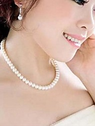 Necklace Choker Necklaces / Pearl Necklace Jewelry Wedding / Party / Daily / Casual Fashion Pearl / Imitation Pearl Silver 1pc Gift