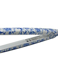 LOOF Fashion Professional Mini Porcelain Hair Straightener - Blue + White EU / US Plug