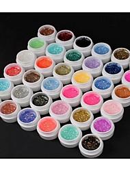36pcs 8 ml Pailletten UV Color Gel