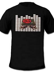 мужские загораются футболки звук и музыка активированный эквалайзер привело эль липучке панель можно стирать в машине Party Bar RAVER фестиваль
