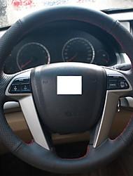 Xuji ™ véritable couverture de volant en cuir noir pour Honda Accord 8 2008-2013 accord