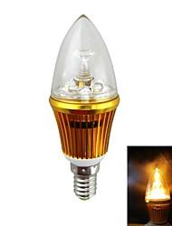 en couleur haute luminosité e14 3w 300lm 2000k Ampoule LED de pointe de lumière jaune - (ca 85 ~ 265V)