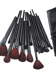 24 Makeup Brushes Set Goat Hair / Pony / Synthetic Hair / Nylon / Horse Face / Lip / Eye Others