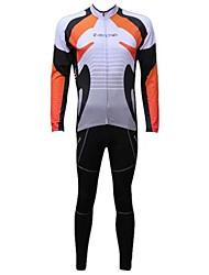 Tenus Cyclisme - Respirable/Pare-vent/Garder au chaud/Doublure Polaire  à  Manches longues pour Homme