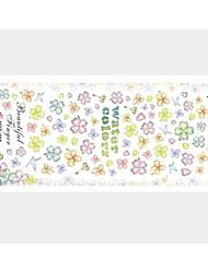 2 stuks bloemen water transfer printen nagel stickers