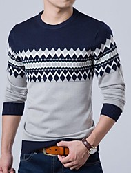 automne tricot à manches longues slim hommes adapter Pull