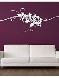 JiuBai™ Rose Flower Vine Art Wall Sticker Wall Decal
