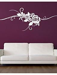 jiubai ™ flor rosa arte videira parede adesivo de parede do decalque