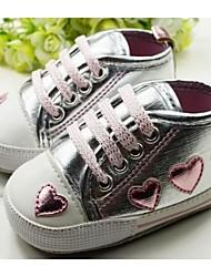 Baby Shoes - Casual - Sneakers alla moda - Sintetico - Argento / Rosa