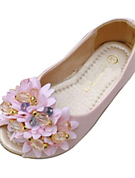 Girls' Shoes Peep Toe Flat Heel Flats with Flower Shoes