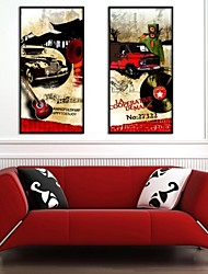 Abstract Music Framed Canvas Print Set of  2