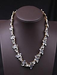 Hohot luxuriöse Kristall diamonade vintage necklace_necklace: 40 + 5 cm # N0017