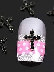 10pcs strass rouge art accessoires Conseils passage des doigts de la décoration des ongles