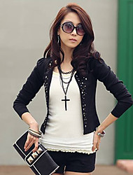 ER Fashion Rivet Fitted Long Sleeve Blazer