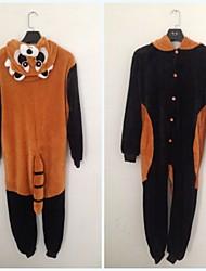 Pouco Raccoon flanela Crianças Kigurumi Pajama