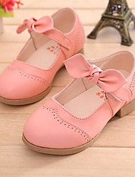 Soft Nuddle Skin Girl's Flat Heel Comfort Flats Shoes with Bowknot and Magic Tape Shoes (More Colors)