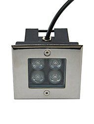 4pcs LED High Power 4W Outdoors Square Underground Lamp (AC85-265V)