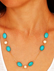 Blue Pendant Necklaces Alloy / Resin Party / Daily / Casual Jewelry
