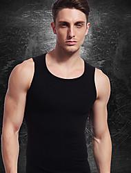 homens de emagrecimento t-shirt cueca firme barriga barriga busto corpo shaper vest spandex ny075 negros