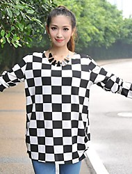 Women's Geometric Patterns Loose Long Sleeved Tops