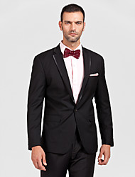 Black Polyester Tailored Fit Two-Piece Tuxedo