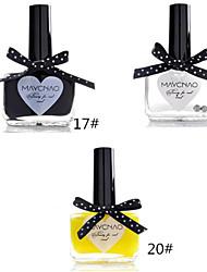 1pcs bonbons de couleur de vernis à ongles dentelle papillon bouteille no.17-20 (de couleurs assorties)
