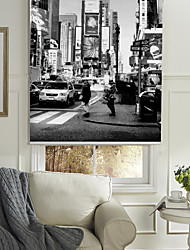 Monochrome Style New York Buildings Roller Shade