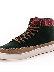 Round Toe  Flat Heel Suede Boots with Lace-Up Men's Shoes (More Colors)
