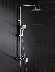 Contemporary Waterfall Tub Shower Faucet with 8 inch Shower Head with Hand Shower