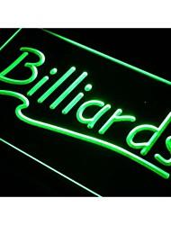 billard i266 bar de la salle de billard signe de néon