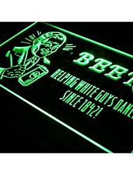 j306 Beer Helping White Guys Dance Bar New Light Sign