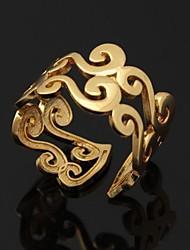 Женский Кольца для пар Массивные кольца Классические кольца бижутерия Регулируется Открытые Платиновое покрытие Позолота Бижутерия