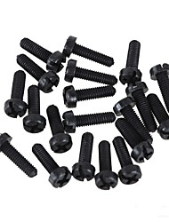 ZnDiy-BRY R205-310 M3 x 10 Plastic Nylon Screws for Multicopter Flight - Black (20 PCS)