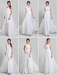Evento Formal Vestido - Vestido Convertible Talla Grande / Pequeña Corte en A Hasta el Suelo Georgette con