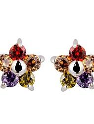 Paar/Kinder/Damen Ohrring Kubikzirkonia Kubikzirkonia Stud Earrings
