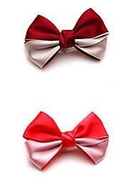 hochwertige Satinband Doppel Farbe Bowknothaarnadel Kopfschmuck Haarspangen gelegentliche Anlieferung