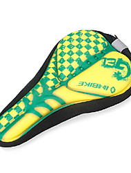 INBIKE High Elastic Fabric+GEL Yellow+Green Cycling Saddle Cover