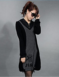 Women's Loose Hooded Dress