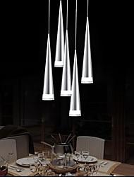 moderna lámpara colgante de aluminio, 5 luz, el chapado de metal acrílico transparente, 110v-240v.