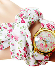 Damen Modeuhr Armband-Uhr Quartz Band Blume Böhmische Weiß Marke