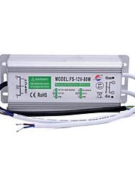 xinyuanyang® fs-12v-80w impermeable externa 80w llevó la fuente de alimentación -plata conductor (110 ~ 250v)