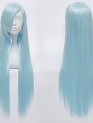 Cosplay Wigs Kuroko no Basket Cosplay Blue Long Anime Cosplay Wigs 80 CM Heat Resistant Fiber Male / Female